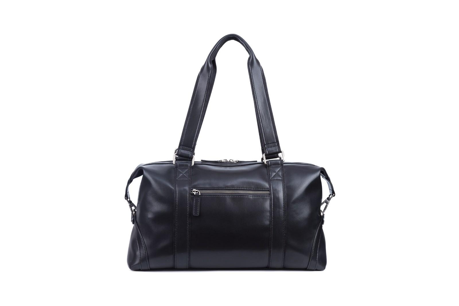 GF bags-Leather Duffle Bag Mens Duffle Leather Handle Metal Zipper Closure