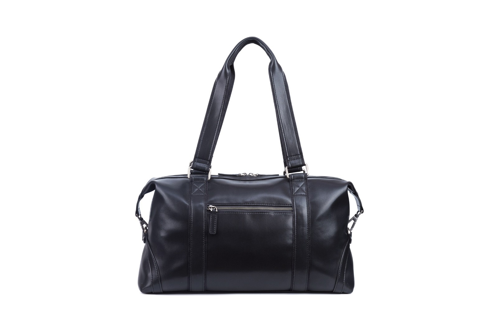 GF bags-Leather Duffle Bag Mens Duffle Leather Handle Metal Zipper Closure-1