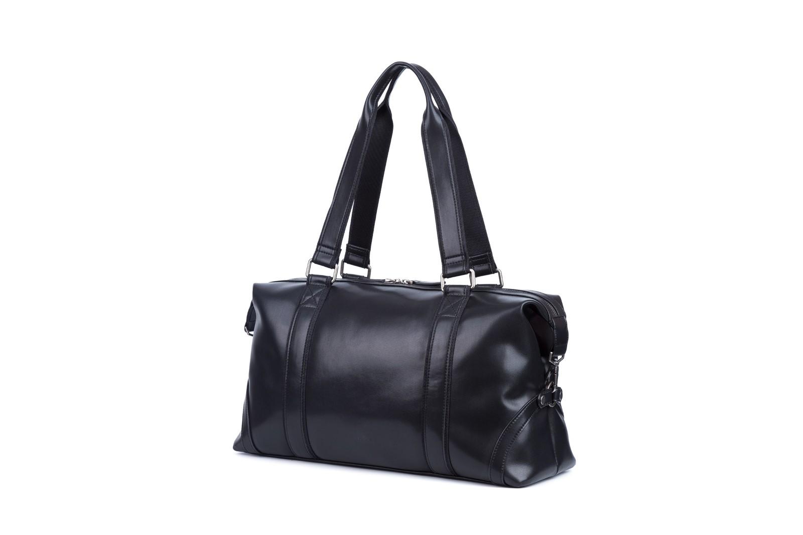 GF bags-Leather Duffle Bag Mens Duffle Leather Handle Metal Zipper Closure-2