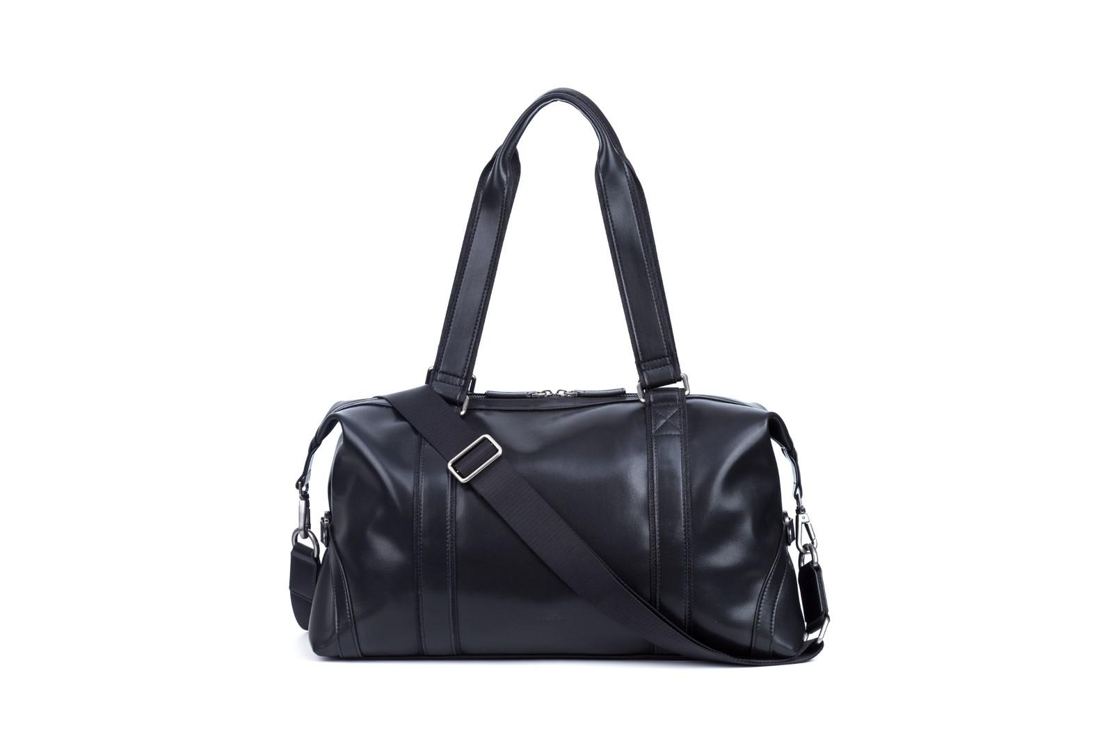 GF bags-Leather Duffle Bag Mens Duffle Leather Handle Metal Zipper Closure-3