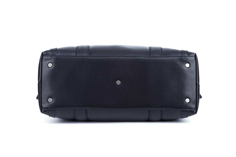 GF bags-Leather Duffle Bag Mens Duffle Leather Handle Metal Zipper Closure-6