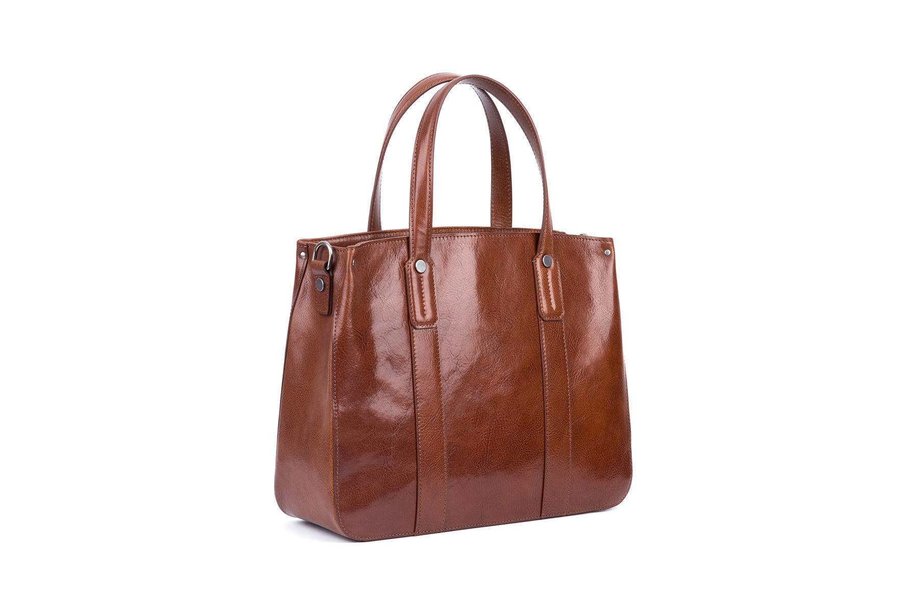 GF bags-Latest Handbags | Handbag Top Handle Waxed Leather Zipper Close Bag - Gaofeng-6