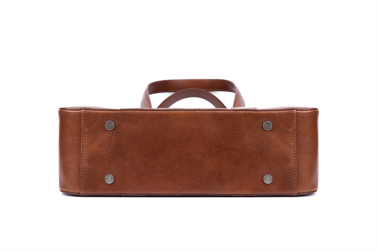 GF bags-Latest Handbags | Handbag Top Handle Waxed Leather Zipper Close Bag - Gaofeng-8