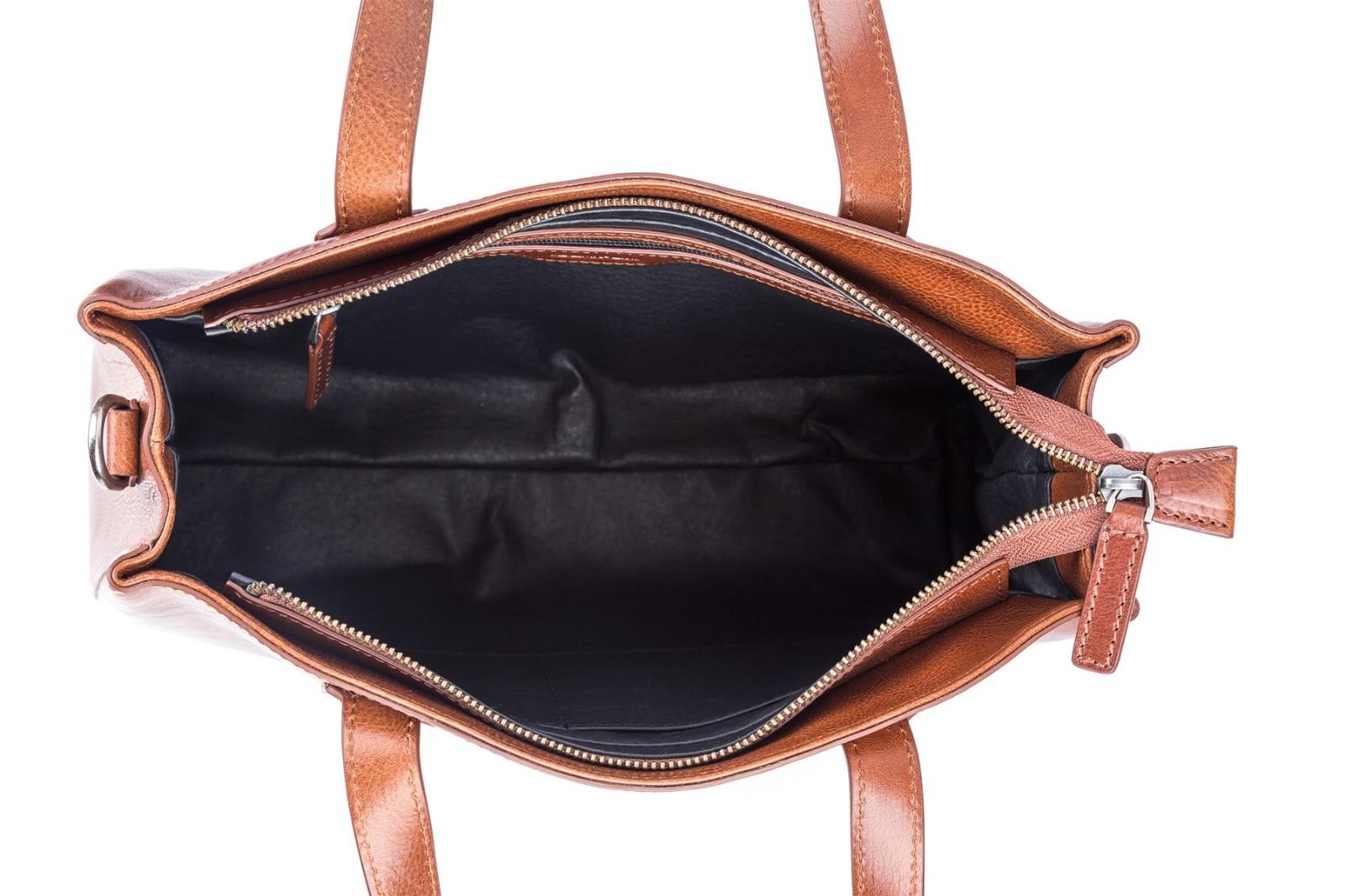 GF bags-Latest Handbags | Handbag Top Handle Waxed Leather Zipper Close Bag - Gaofeng-9